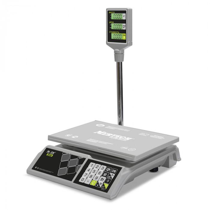 """Торговые настольные весы M-ER 326 ACP-15.2 """"Slim"""" LCD Белые"""