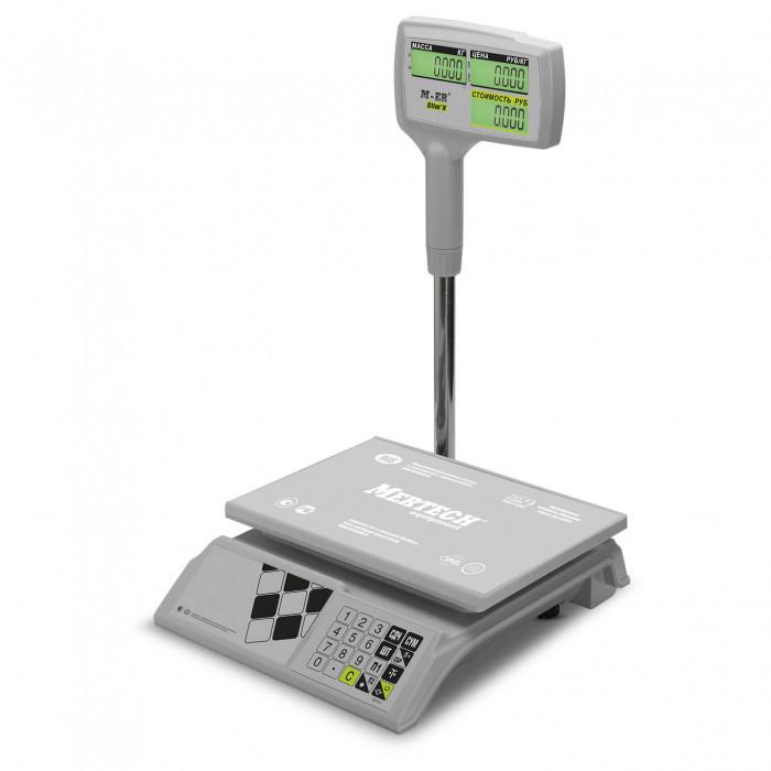 """Торговые настольные весы M-ER 326 ACPX-15.2 """"Slim'X"""" LCD Белые"""