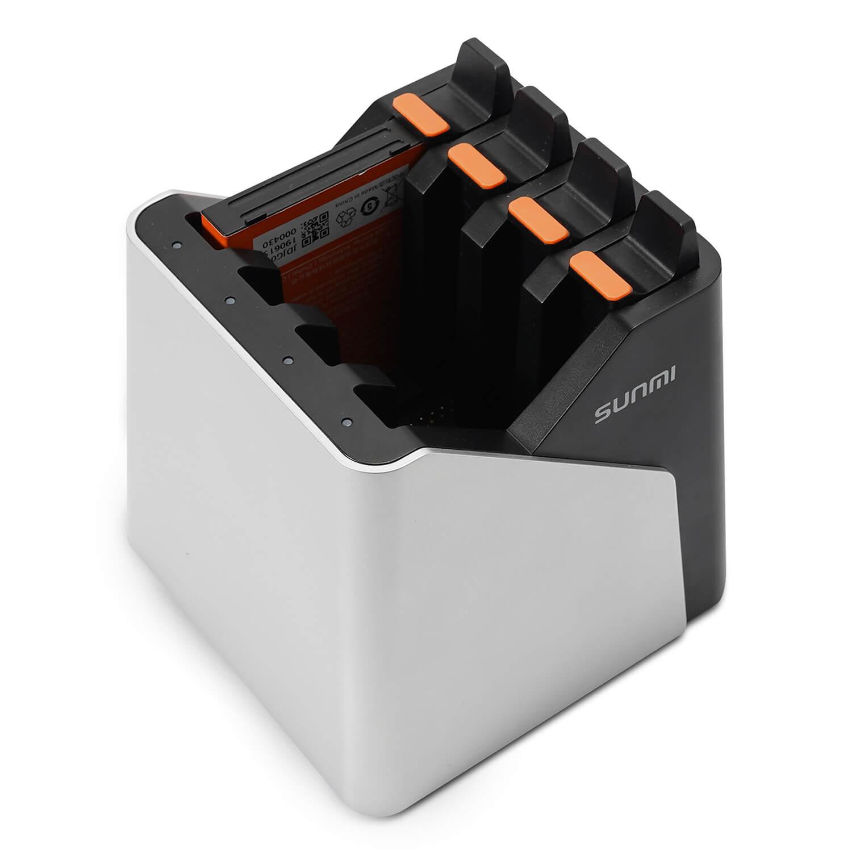 Зарядное устройство на 4 аккумулятора для ТСД Mertech SUNMI L2K