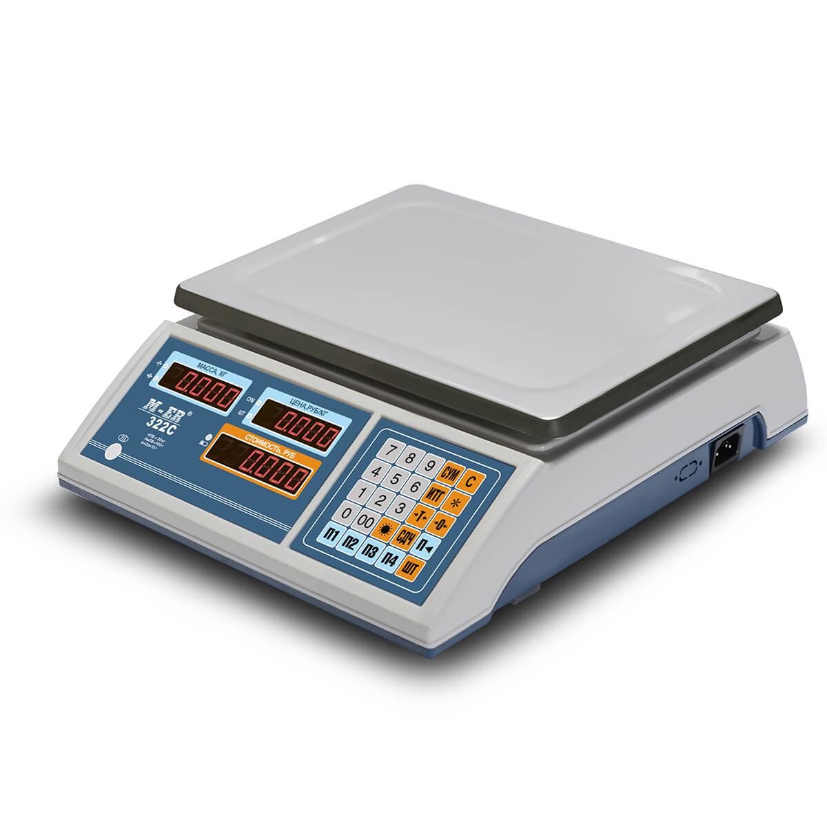 Торговые настольные весы M-ER 322 AC-32.5 «Ibby» LED