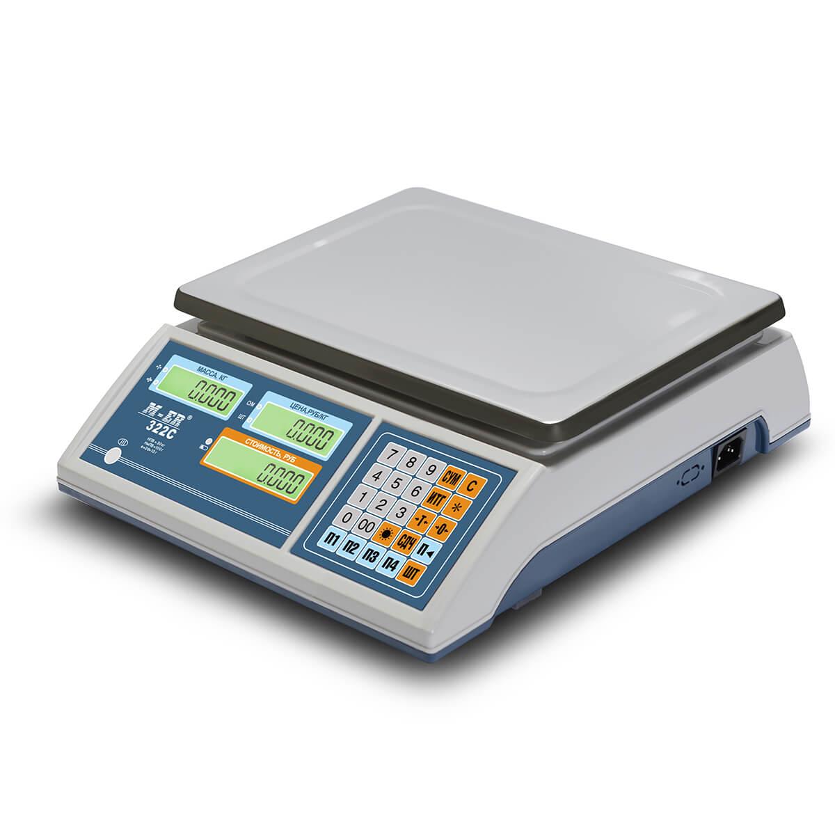 Торговые настольные весы M-ER 322 AC-15.2 «Ibby» LCD