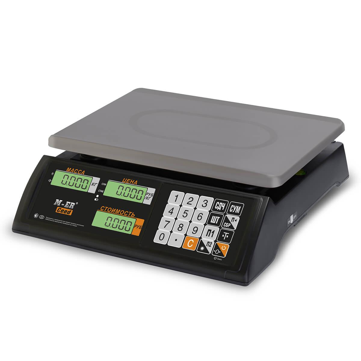 Торговые настольные весы M-ER 327 AC-32.5 «Ceed» LCD Черные