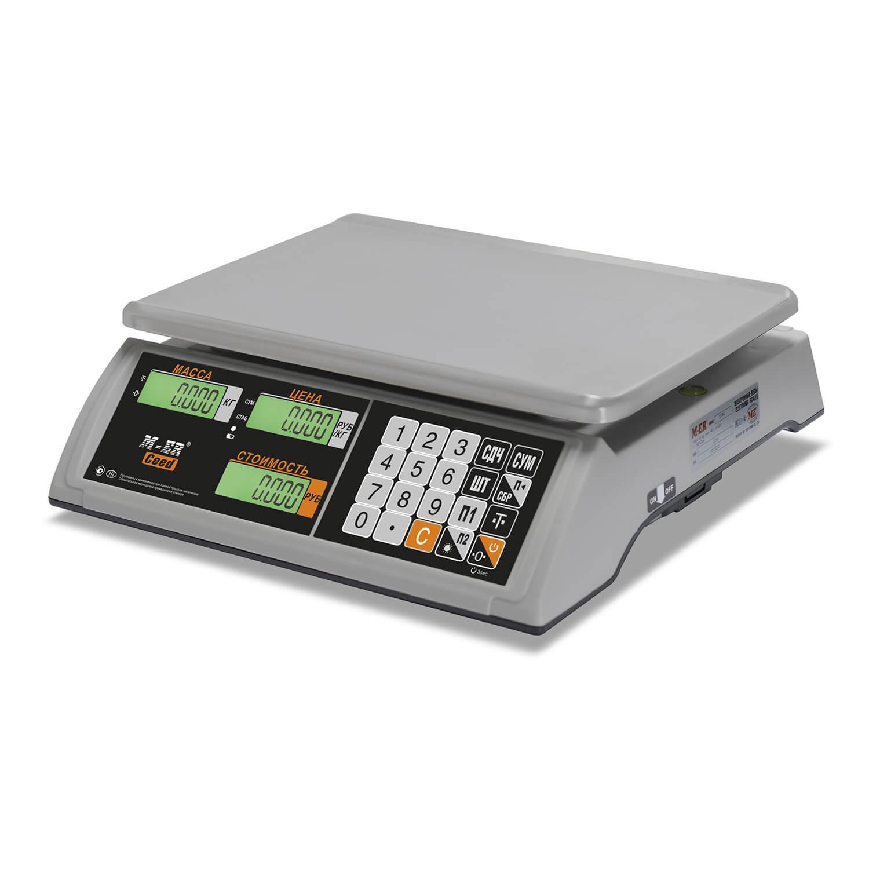 Торговые настольные весы M-ER 327 AC-32.5 «Ceed» LCD Белые