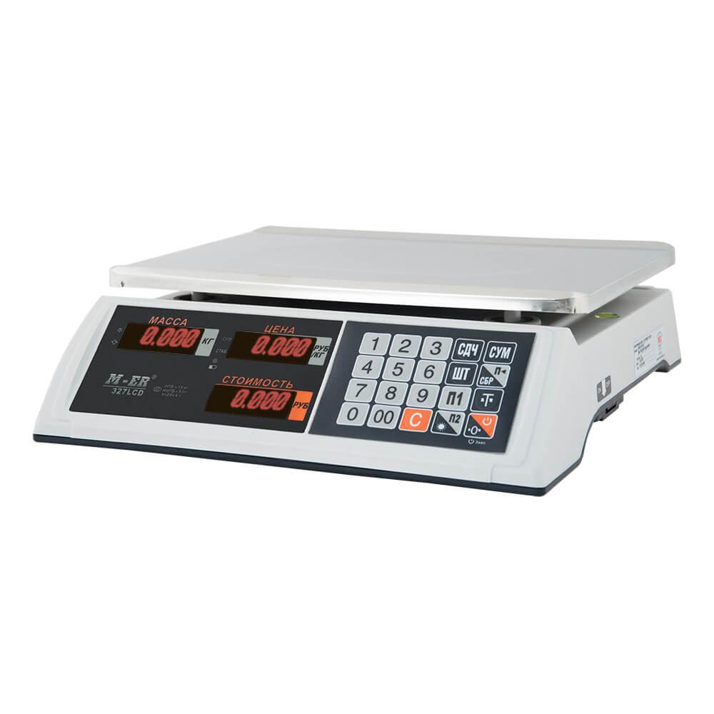 Торговые настольные весы M-ER 327 AC-15.2 «Ceed» LED Белые
