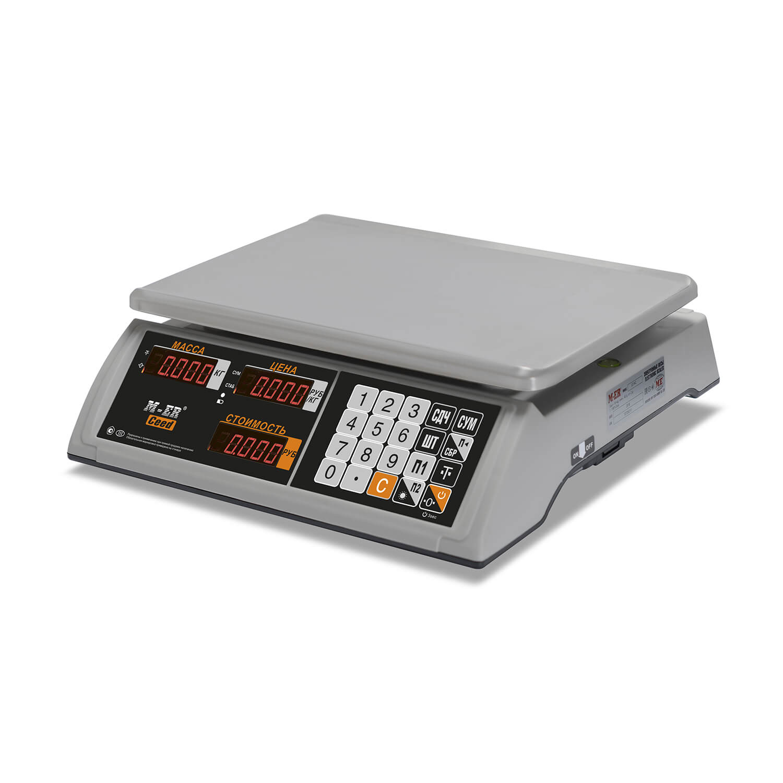 Торговые настольные весы M-ER 327 AC-32.5 «Ceed» LED Белые