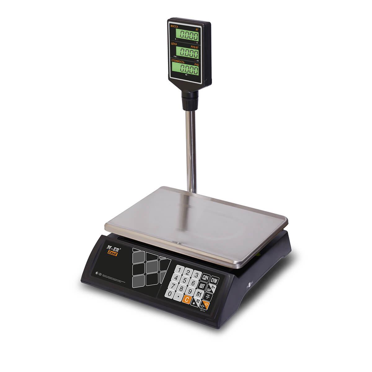 Торговые настольные весы M-ER 327 ACP-15.2 «Ceed» LCD Черные