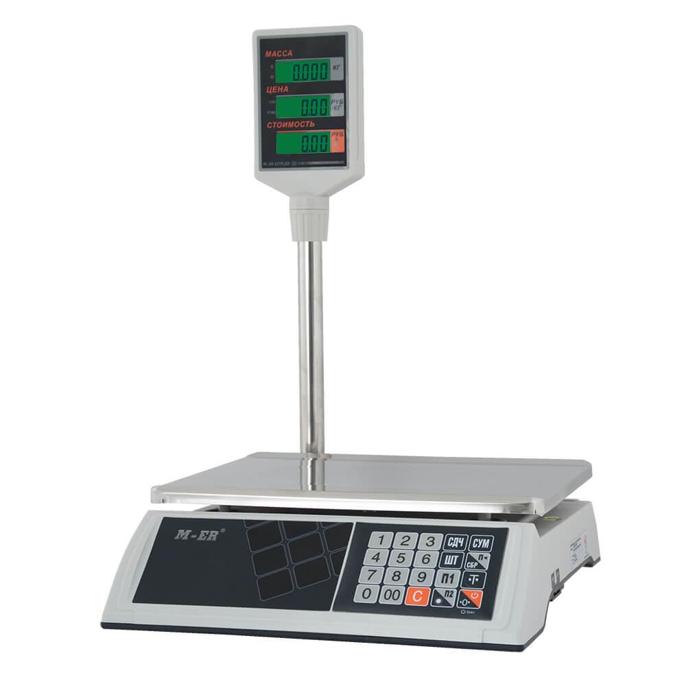 Торговые настольные весы M-ER 327 ACP-32.5 «Ceed» LCD Белые