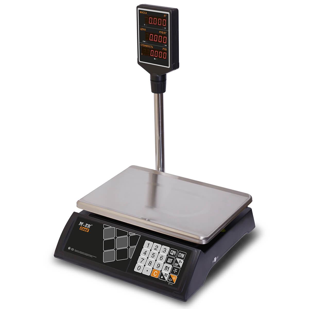 Торговые настольные весы M-ER 327 ACP-32.5 «Ceed» LED Черные