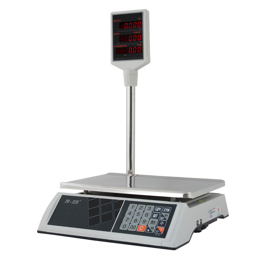 Торговые настольные весы M-ER 327 ACP-15.2 «Ceed» LED Белые