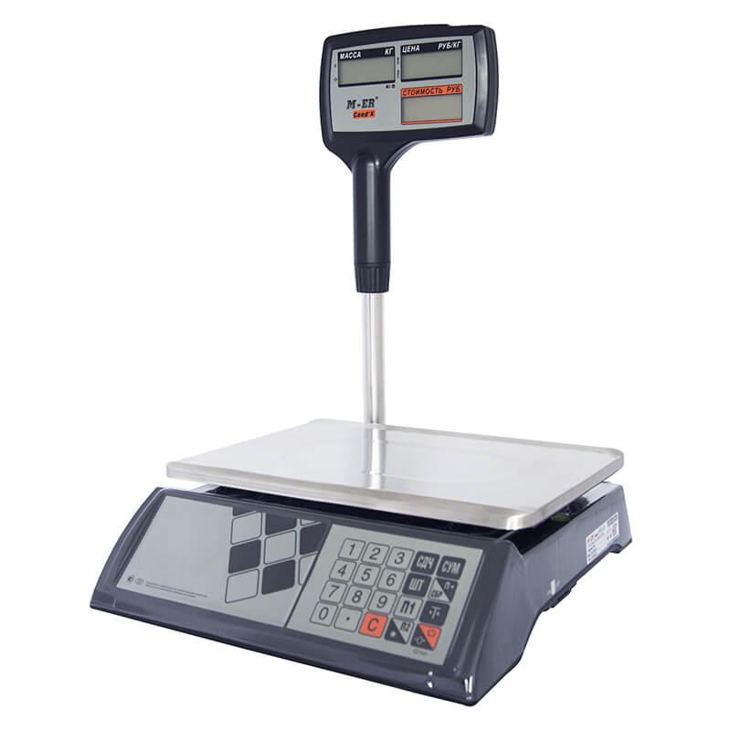 Торговые настольные весы M-ER 327 ACPX-32.5 «Ceed'X» LCD Черные
