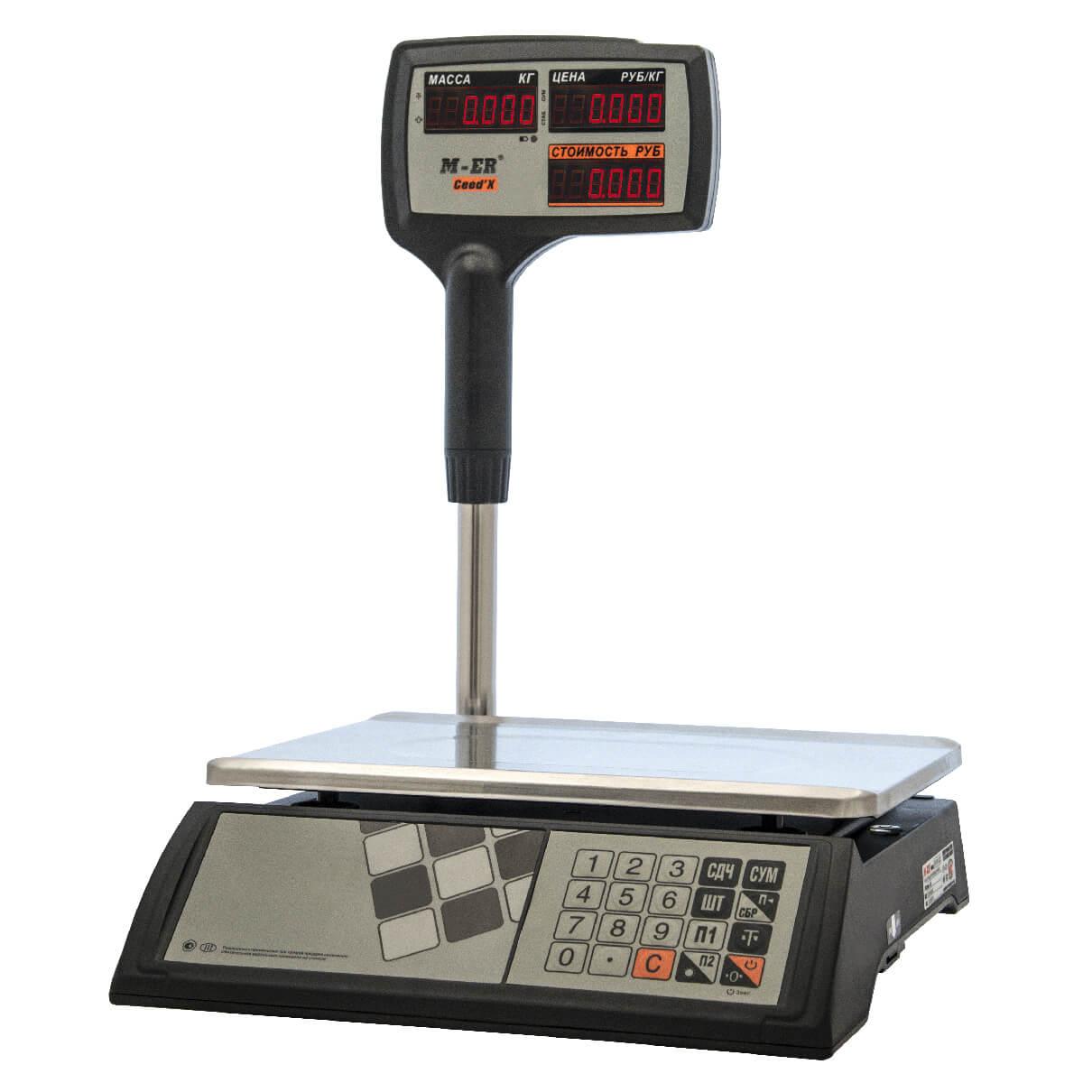 Торговые настольные весы M-ER 327 ACPX-32.5 «Ceed'X» LED Черные