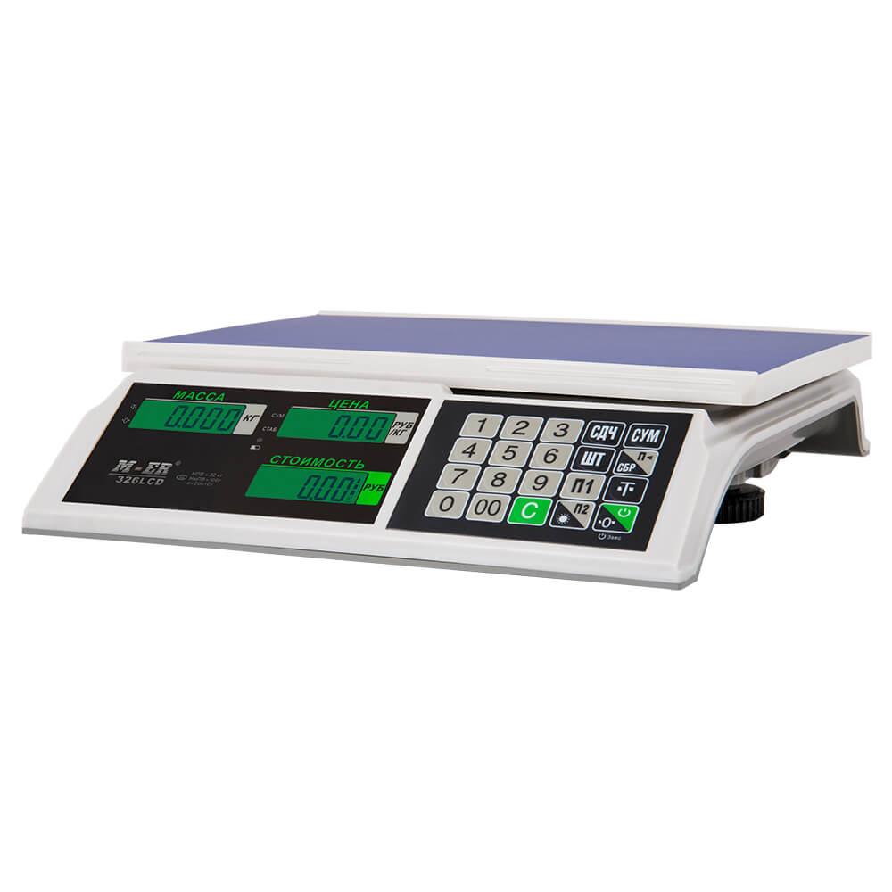 Торговые настольные весы M-ER 326 AC-15.2 «Slim» LCD Белые