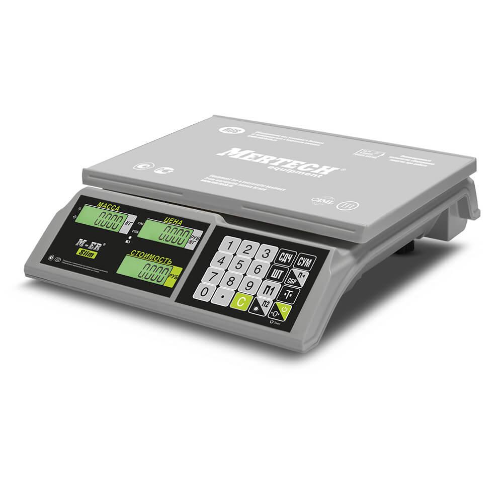 Торговые настольные весы M-ER 326 AC-32.5 «Slim» LCD Белые