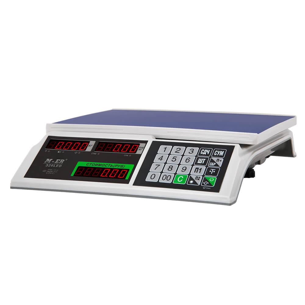 Торговые настольные весы M-ER 326 AC-32.5 «Slim» LED Белые