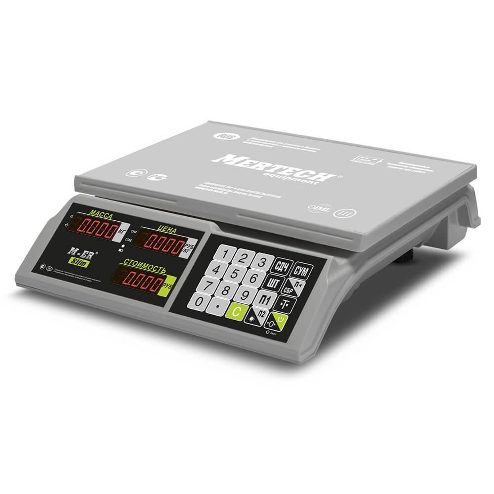 Торговые настольные весы M-ER 326 AC-15.2 «Slim» LED Белые