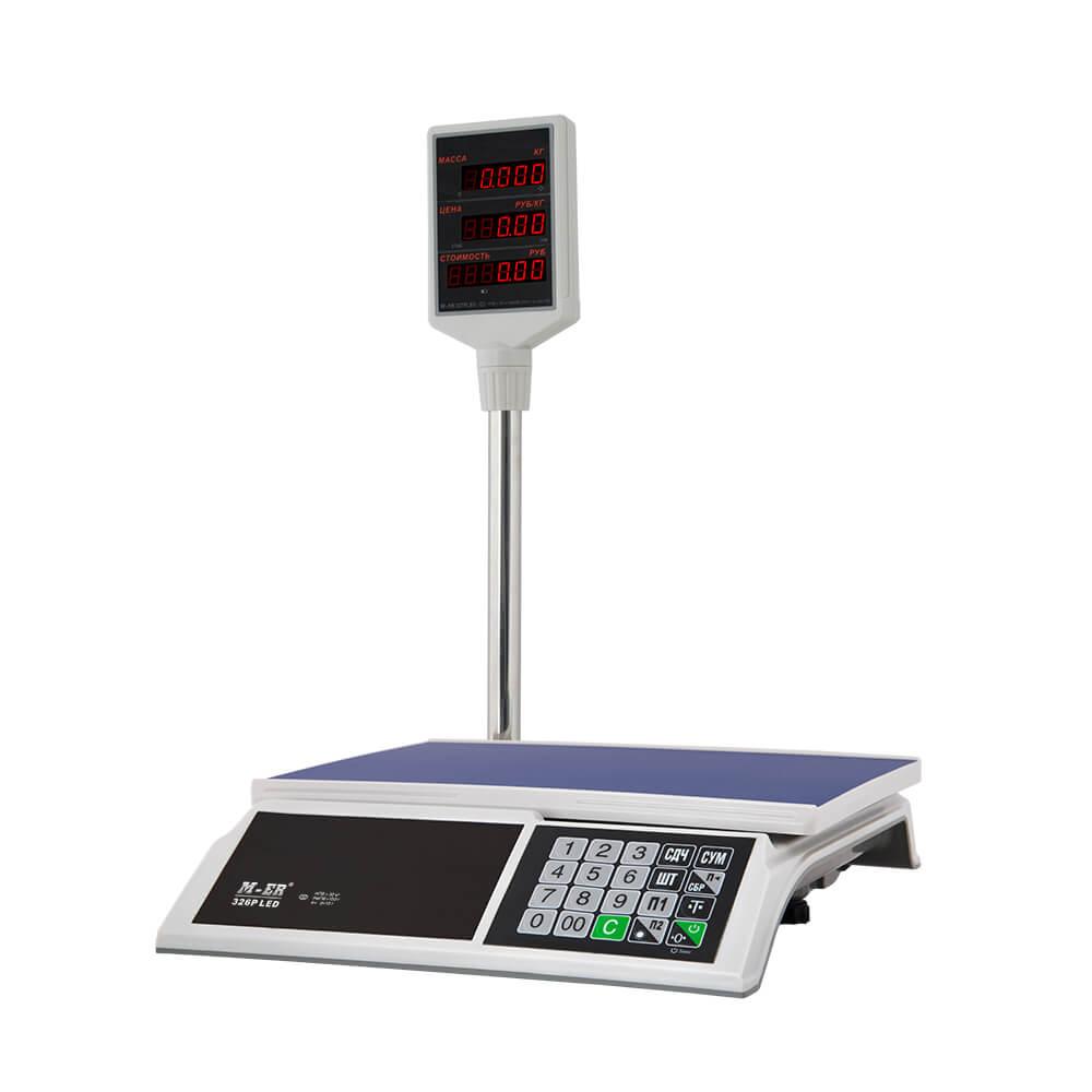 Торговые настольные весы M-ER 326 ACP-15.2 «Slim» LED Белые