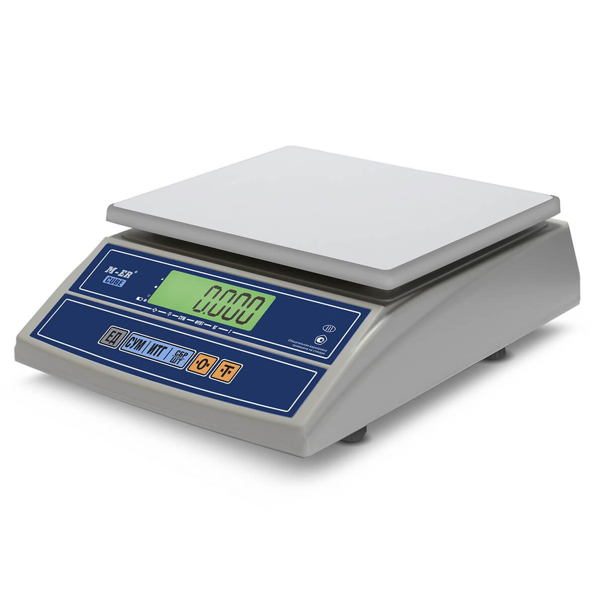 Фасовочные настольные весы M-ER 326 AFL-15.2 «Cube» LCD