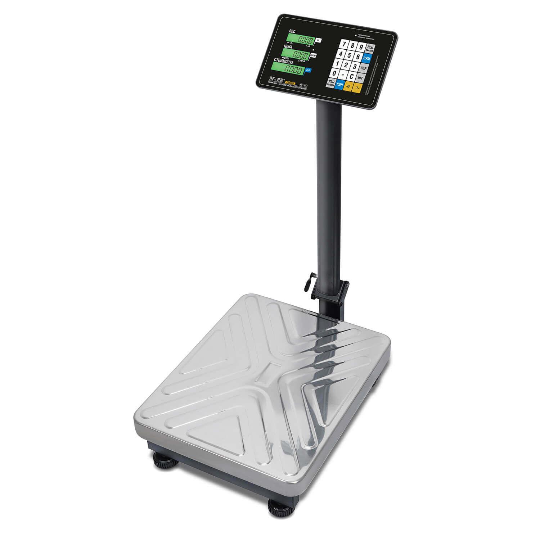 Торговые напольные весы M-ER 333 ACP-300.100 «TRADER» с расч. стоимости LCD