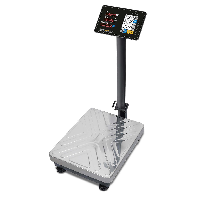 Торговые напольные весы M-ER 333 ACP-150.50 «TRADER» с расч. стоимости LED