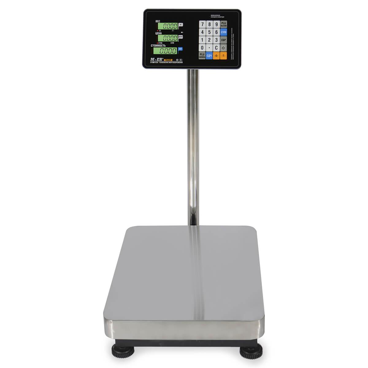 Торговые напольные весы M-ER 333 ACP-150.50 «TRADER» с расч. стоимости LCD