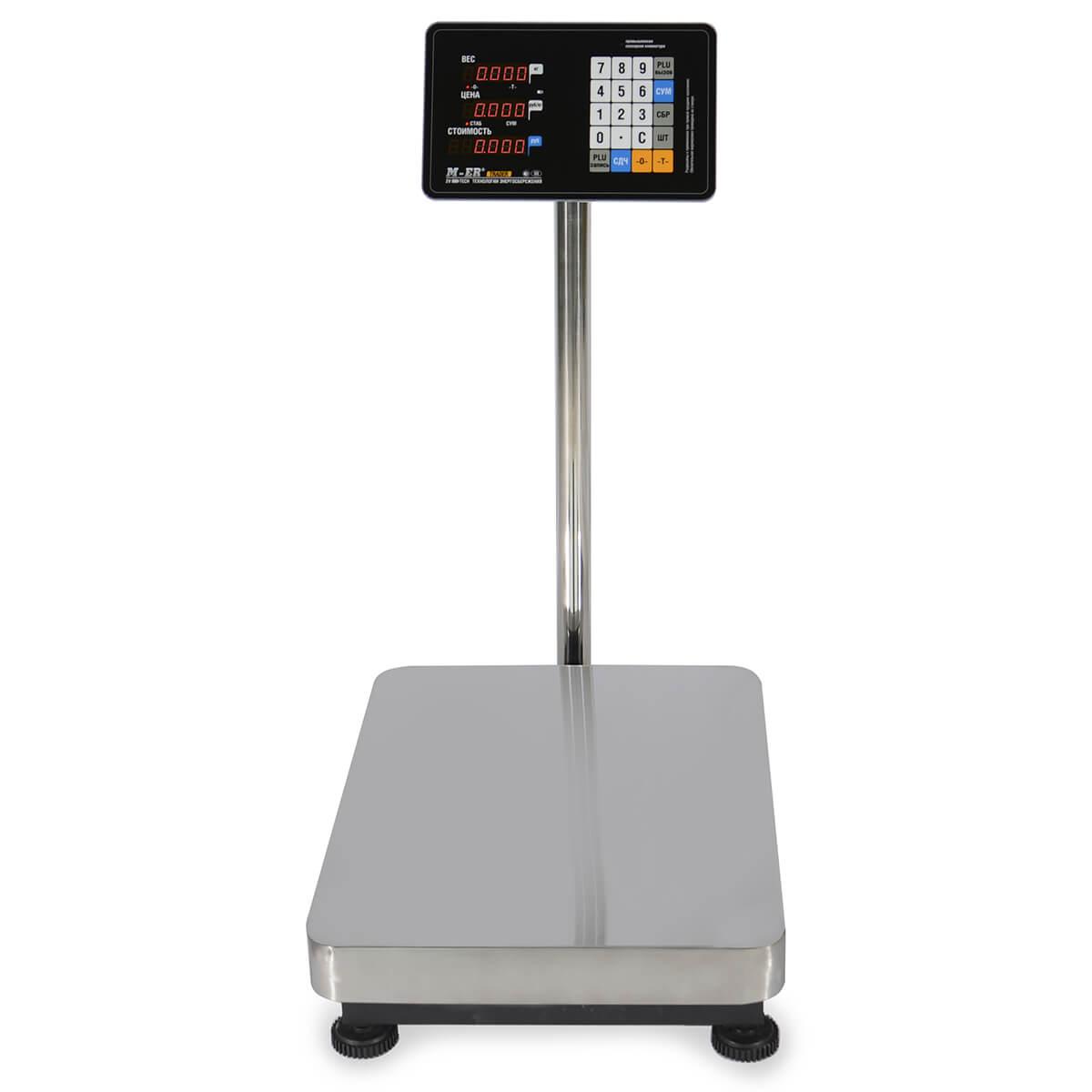 Торговые напольные весы M-ER 333 ACLP-300.100 «TRADER» с расч. стоимости LED