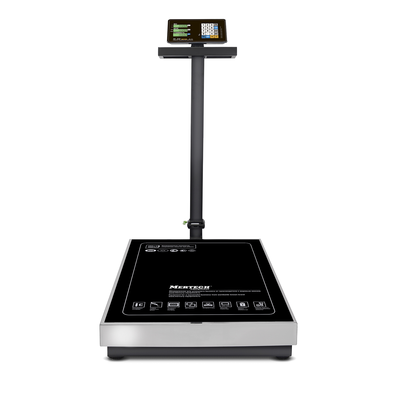 Торговые напольные весы M-ER 333 ACLP-600.200 «TRADER» с расч. стоимости LCD
