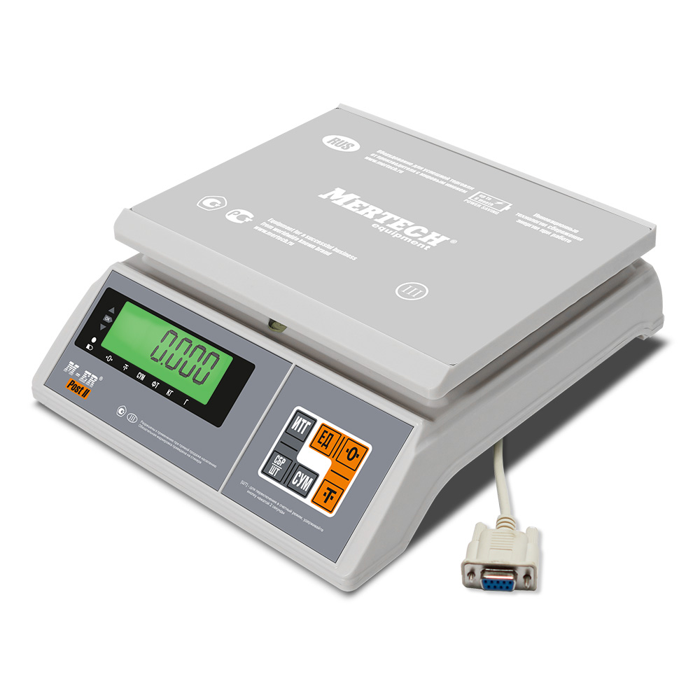 Фасовочные настольные весы M-ER 326 AFU-32.1 «Post II» LCD RS-232