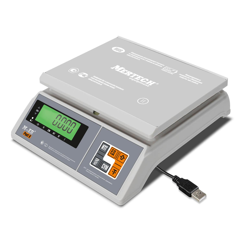 Фасовочные настольные весы M-ER 326 AFU-3.01 «Post II» LCD USB-COM