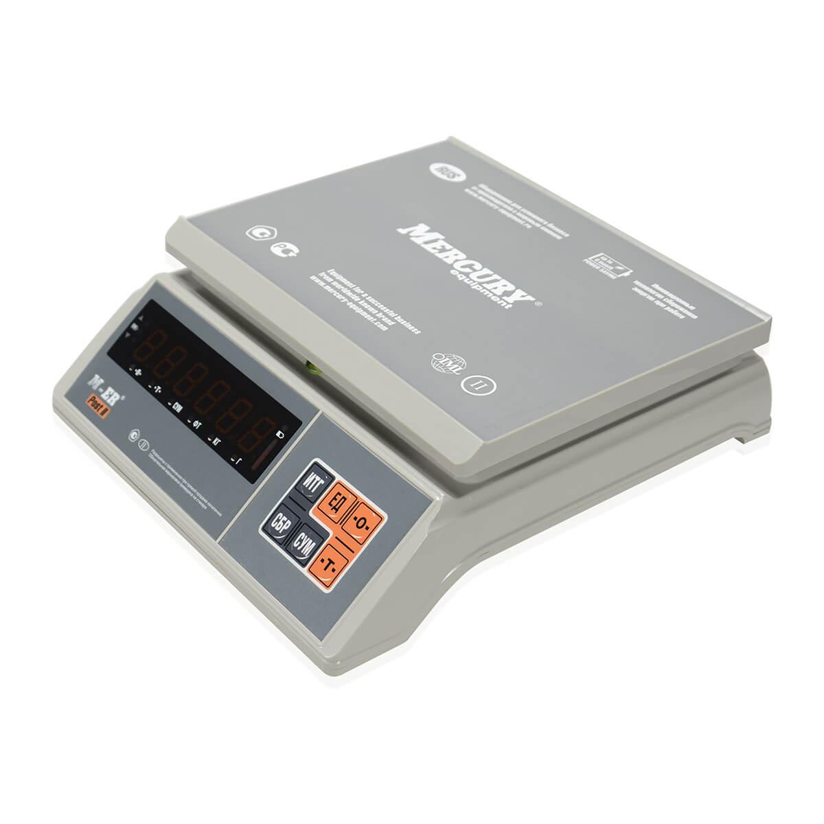 Фасовочные настольные весы M-ER 326 AFU-15.1 «Post II» LED