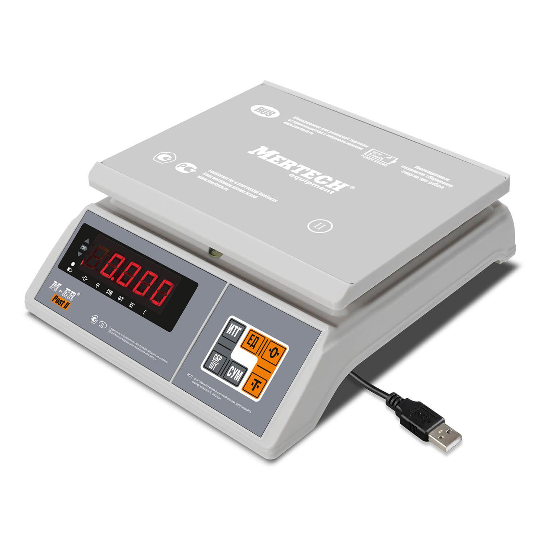 Фасовочные настольные весы M-ER 326 AFU-32.1 «Post II» LED USB-COM