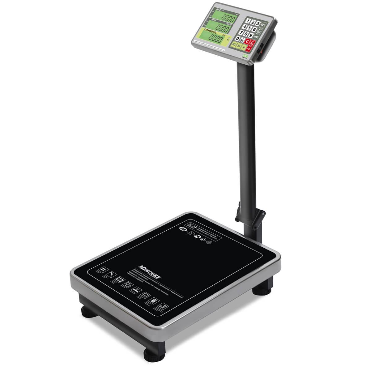 Торговые напольные весы M-ER 335 ACP «TURTLE» с расчетом стоимости товара LCD