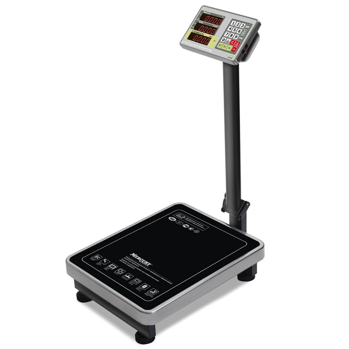 Торговые напольные весы M-ER 335 ACP-150.20 «TURTLE» с расчетом стоимости товара LED