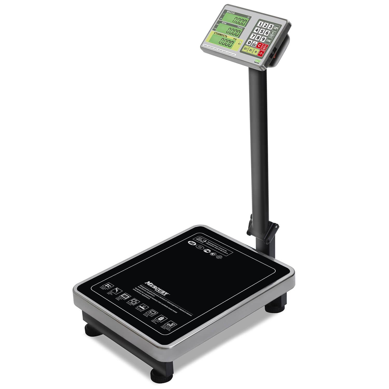 Торговые напольные весы M-ER 335 ACLP-150.20 «TURTLE» с расчетом стоимости товара LCD