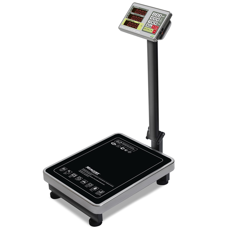 Торговые напольные весы M-ER 335 ACLP-150.20 «TURTLE» с расчетом стоимости товара LED