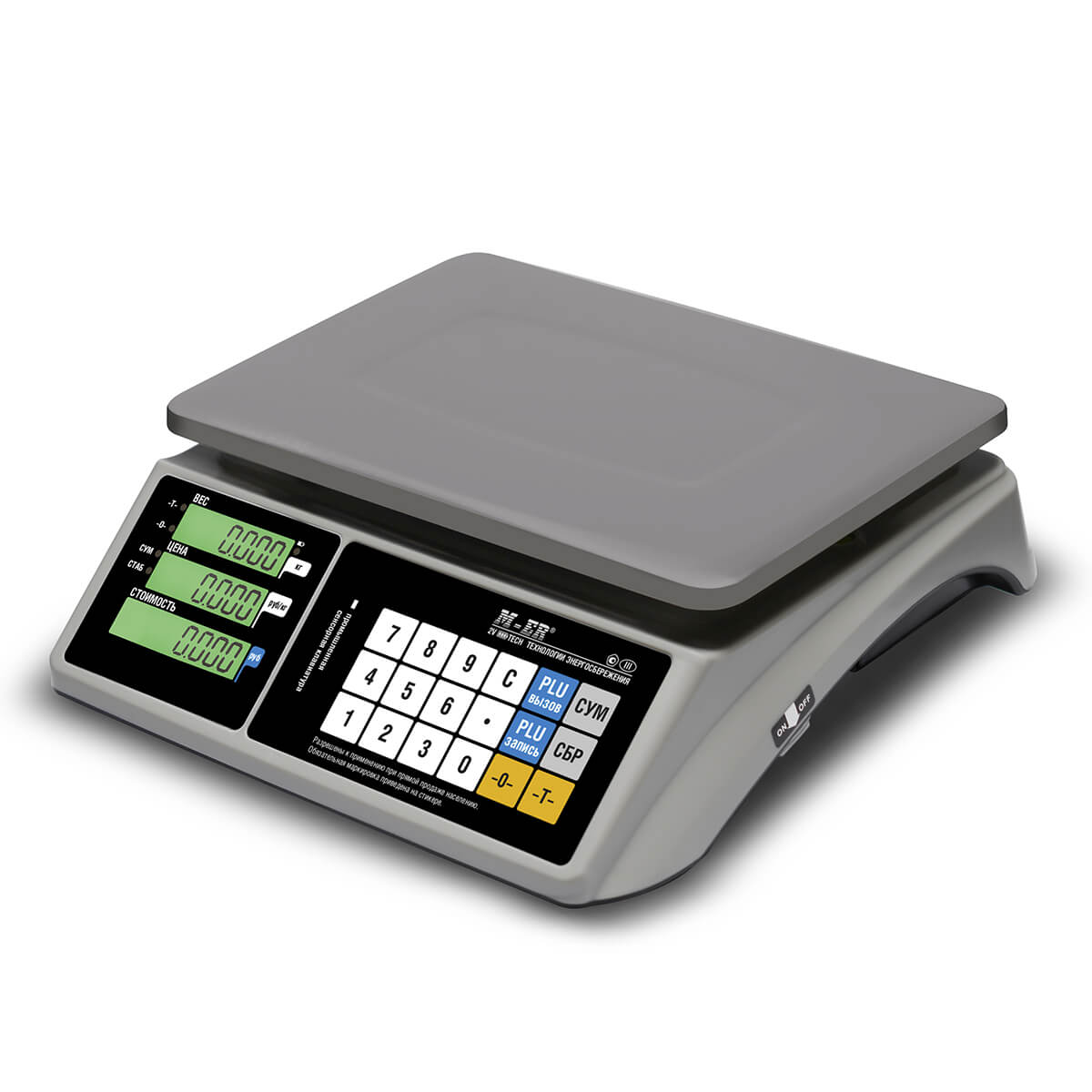 Торговые настольные весы M-ER 328 AC-15.2 «TOUCH-M» LCD RS232 и USB