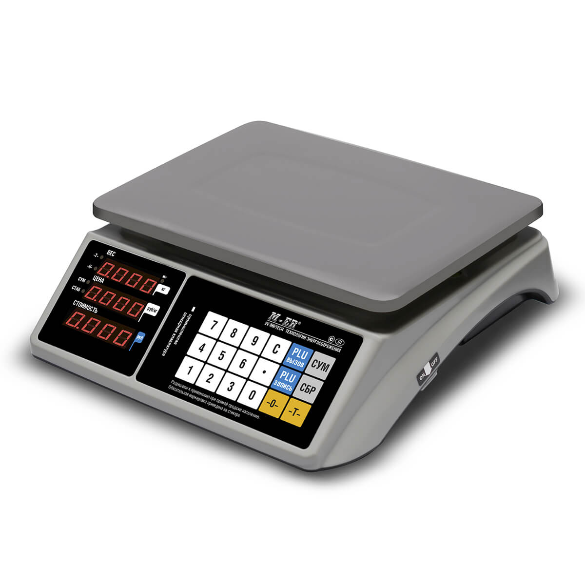 Торговые настольные весы M-ER 328 AC-32.5 «TOUCH-M» LED RS232
