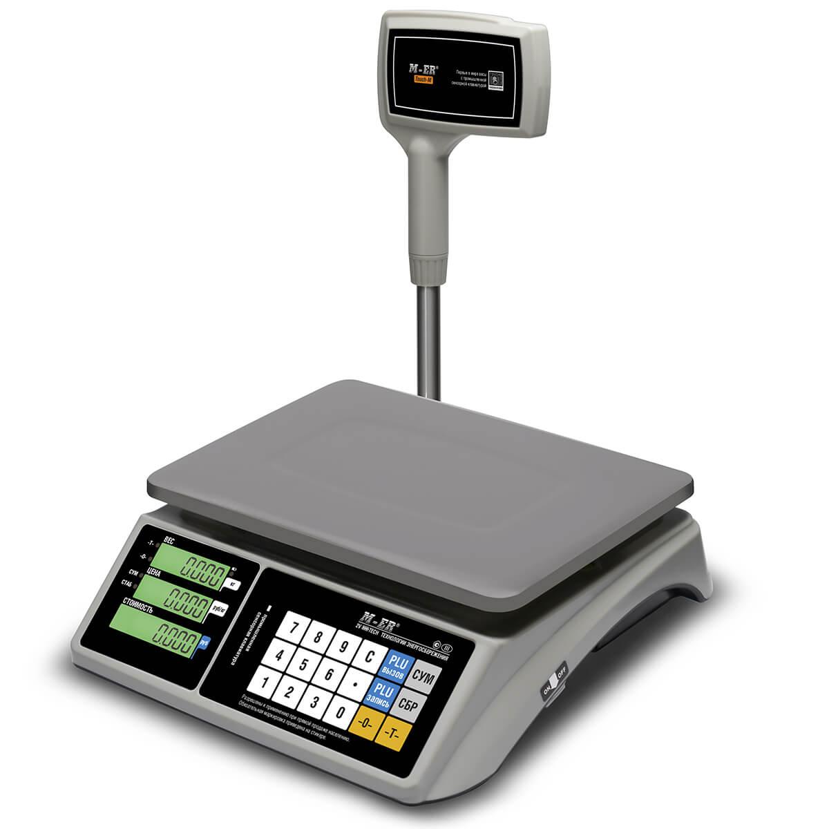 Торговые настольные весы M-ER 328 ACPX-15.2 «TOUCH-M» LCD RS232 и USB