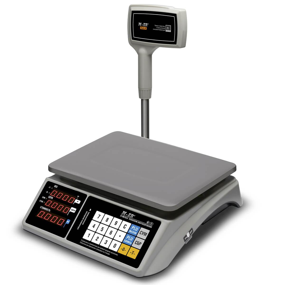 Торговые настольные весы M-ER 328 ACPX-15.2 «TOUCH-M» LED RS232 и USB