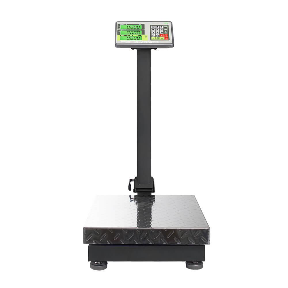 Торговые напольные весы M-ER 335 ACLP-300.50 «TURTLE» с расчетом стоимости товара LCD