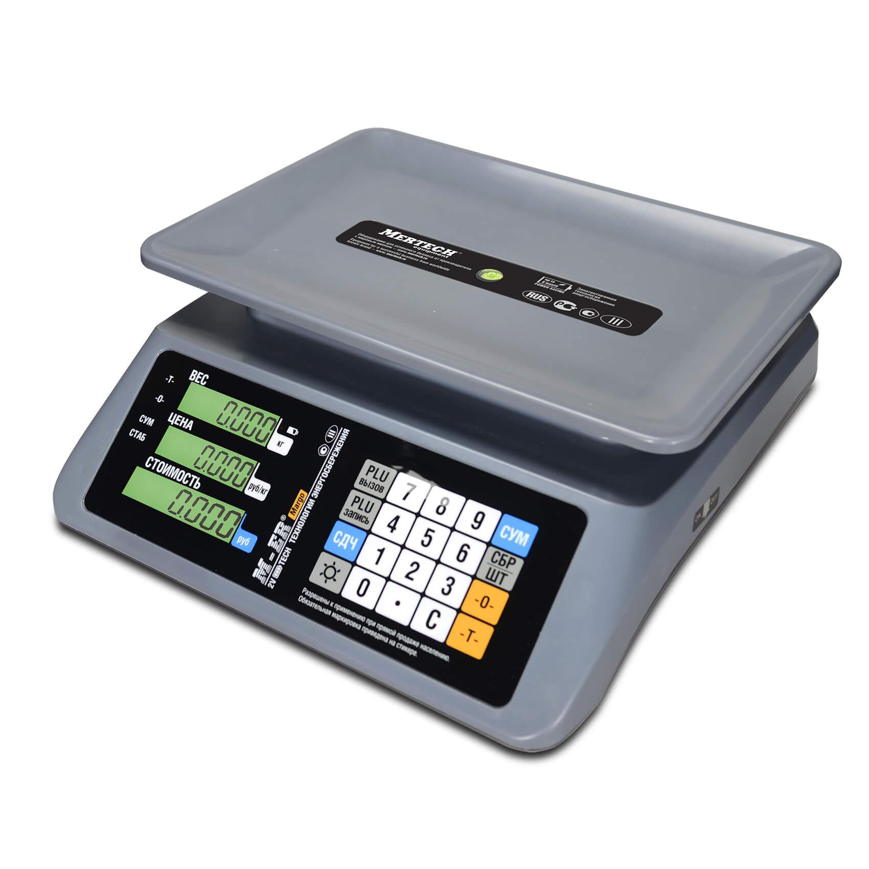 Торговые настольные весы M-ER 321 AC-32.5 «MARGO» LCD