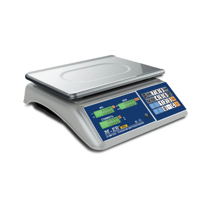 Торговые настольные весы M-ER 223 AC-15.2 «Mary» LCD