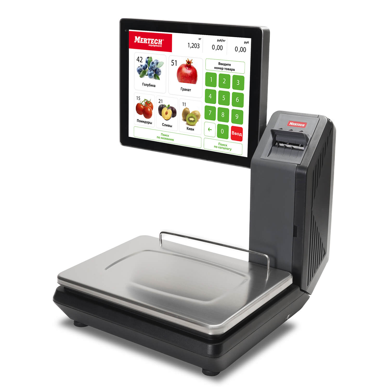 Весы с печатью этикеток M-ER 725 PM-32.5 (15″, USB, Ethernet, Wi-Fi)